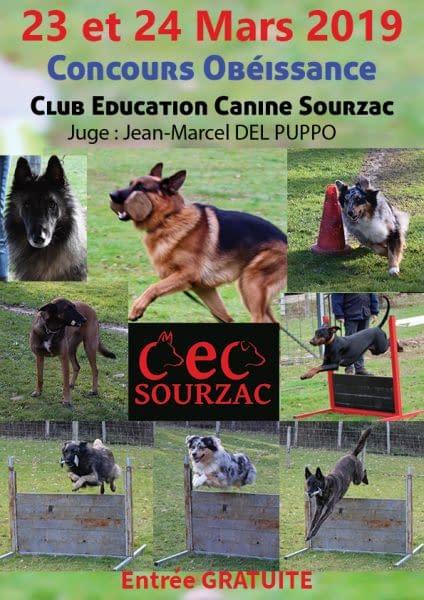 Concours Obéissance Club d'éducation canine de SOURZAC (24) Dordogne