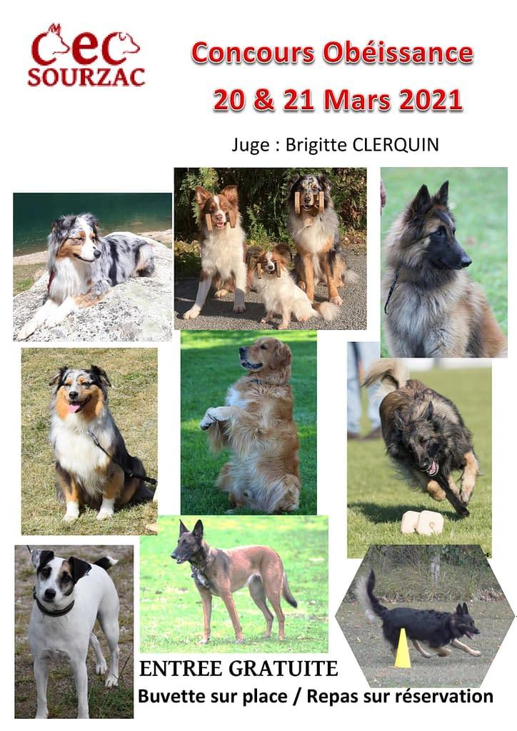 Prochains concours Club d'éducation canine de SOURZAC (24) Dordogne